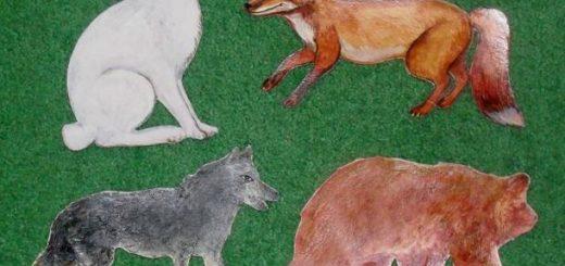 Кролик,лиса,волк и медведь