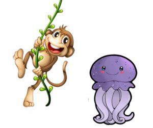 Медуза и обезьяна